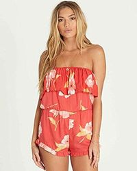 Billabong - Pocket Flower Romper - Lyst