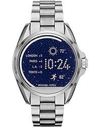 Michael Kors - Access Unisex 45mm Silvertone Bradshaw Touchscreen Smart Watch - Lyst