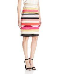 Rafaella - Spring Break Stripe Pull On Pencil Skirt - Lyst
