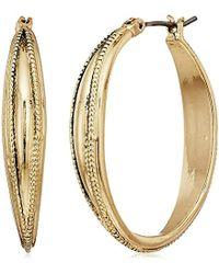 Napier - Gold-tone Large Hoop Earrings - Lyst