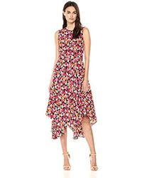 Calvin Klein - Belted Hankerchief Dress - Lyst