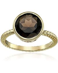 "Cole Haan - ""semi Precious"" Smokey Quartz Brilliant Cut Ring, Size 7 - Lyst"