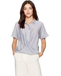 0bc2262c0763 BCBGeneration - Stripe Dolman Wrap Hem Shirt - Lyst