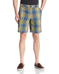 G.H.BASS - Flat Front Straight Slim Ikat Plaid Short - Lyst