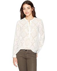 French Connection - Edna Fil De Coupe Blouse - Lyst