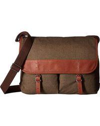 Fossil - Buckner Leather Messenger Bag - Lyst
