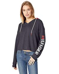 5c569b5f Tommy Hilfiger - Retro Style Lounge Hoodie Sweatshirt Sweater With Hilfiger  Logo Pj - Lyst