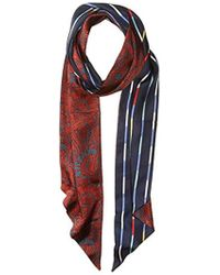 BCBGMAXAZRIA - S Reversible Quilted Floral Stripe Scarf - Lyst