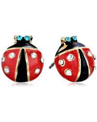 Betsey Johnson - S Ladybug Studs - Lyst