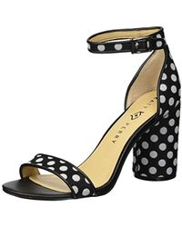 ce773dea20c9 Katy Perry - The Clara Heeled Sandal Black white 7 M Medium Us - Lyst
