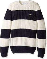 e9500a5a2fc221 Lyst - Lacoste Turtleneck Knitted Sweater in Blue for Men