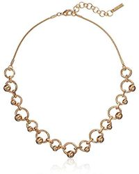 """Nine West - Gold-tone 16"""" Frontal Necklace - Lyst"""