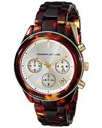 Kenneth Jay Lane - Kjlane-4001 4000 Series Tortoise-pattern Watch - Lyst