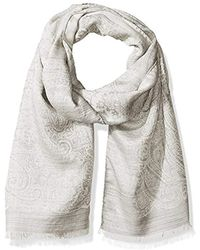 Hickey Freeman - Italian Linen Silk Repeat Paisley Scarf - Lyst