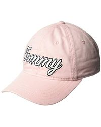 Lyst - Tommy Hilfiger Cotton Twill Tommy Aphrodite Baseball Cap in ... 0fb888a347f6