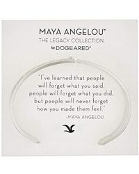 Dogeared - Maya Angelou I've Learned That People Will Forget What You Said Medium Engraved Cuff Bracelet - Lyst