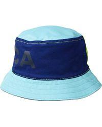 3d3b9cc911e Nautica - Reversible Large Logo Print Bucket Hat - Lyst