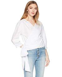 Kensie - Oxford Shirting Top - Lyst