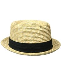 32c6a510e4e Lyst - Original Penguin Straw Porkpie Hat in White for Men