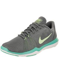 pretty nice 0b16c e4227 Nike - Flex Supreme Tr 5 Cool Grey barley Volt Training Shoe 6 Women Us