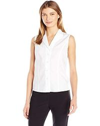 Calvin Klein - Sleeveless Wrinkle Free Button Down Shirt - Lyst
