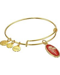 ALEX AND ANI - Love Spell Carnation Expandable Wire Bangle Bracelet - Lyst