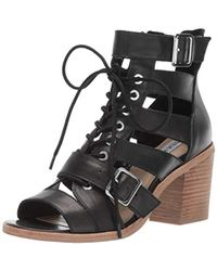 f5b411bfdb10 Lyst - Steve Madden  gingeer  Leather Platform Sandal in Black