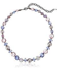 "Napier - Purple Passion Multi Purple Collar Necklace, 16"" + 3"" Extender - Lyst"