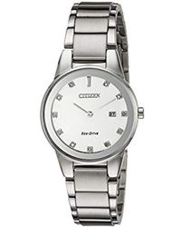 Citizen - Eco-drive Axiom Watch With Diamond Accent, Ga1050-51b - Lyst