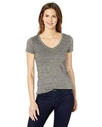 Daily Ritual - Washed Cotton Short-sleeve Deep V-neck T-shirt - Lyst