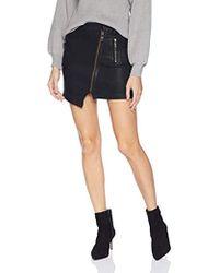 3542a0edef55 TOPSHOP Petite Moto High Waist Denim Skirt in Black - Lyst