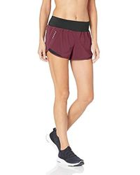 Core 10 - (xs-3x) Knit Waistband Woven Run Short With Internal Brief Liner And Zip Pocket - Lyst