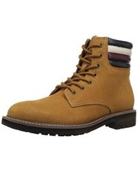 93931878d763 Lyst - Tommy Hilfiger Halle Lace-up Lug Sole Boots in Brown for Men