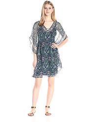 Ella Moss - Lorelei Printed Silk Caftan Dress - Lyst