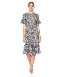 Shoshanna - Yuri Short Sheath Dress With Ruffled Sleeves - Lyst