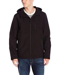 Guess - Shoftshell Hooded Jacket - Lyst