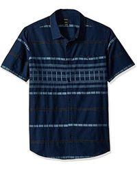 RVCA - Krazy Kat Short Sleeve Woven Button Down Shirt - Lyst