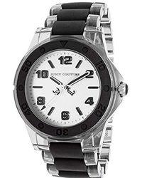 Juicy Couture - 'rich Girl' Quartz Plastic Casual Watch, Color:black (model: 1900870) - Lyst
