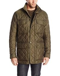 4ccc08662 Lyst - Lacoste Men s Quilted Car Coat in Blue for Men