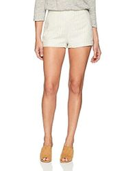 Cupcakes And Cashmere - Alta Striped Linen Short - Lyst