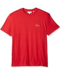 Lacoste - Short Sleeve Graphics Jersey Bonded Croc Reg Fit T-shirt, Th3241 - Lyst