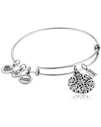 ALEX AND ANI - 2016 Snowflake Expandable Wire Bangle Charm Bracelet - Lyst