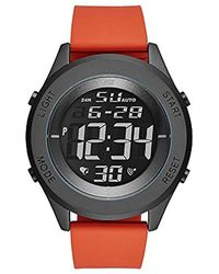 Skechers - Wiseburn Digital Metal And Silicone Chronograph Watch, Color: Black, Red (model: Sr5103) - Lyst