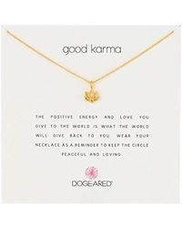 "Dogeared - Good Karma Happy Lotus Necklace, 16"" - Lyst"