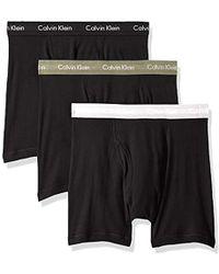 Calvin Klein - 100% Cotton Boxer Briefs - Lyst