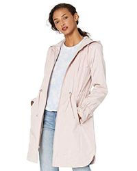 Cole Haan Hooded Anorack Rain Coat - Pink