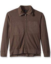 Velvet By Graham & Spencer - Velvet Stone Jersey Zip Up Jacket With Pockets - Lyst
