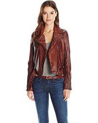William Rast - Kate Pleather Moto Jacket - Lyst