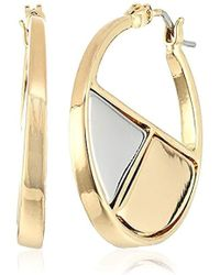 "Laundry by Shelli Segal - ""melrose Place"" Metal Mosaic Hoop Earrings - Lyst"