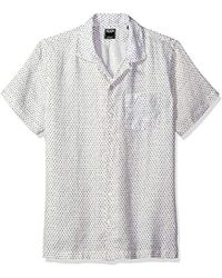 Todd Snyder - Short Sleeve Camp Collar Polka Dot Shirt - Lyst